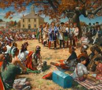 Haudenosaunee extend invitation wampum to White House officials