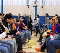 Six Nations children celebrate learning culture with Mini-Sing