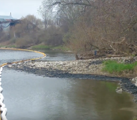 Spilled substance in Grand River could be old motor oil