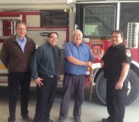 Pastors make donation to Six Nations Fire and Emergency Services